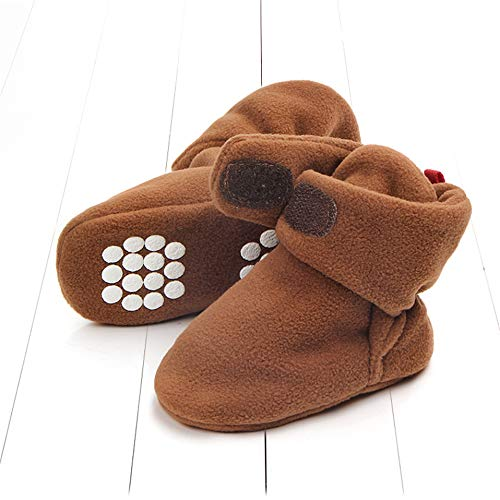New Baby Shoes Newborn Cozie Faux Fleece Bootie Winter Warm Infant Toddler Crib Shoes Classic Floor Boys Girls Boots (0-6months_11cm, Model 3)