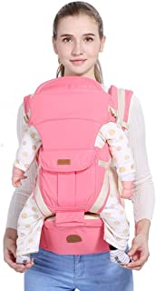 LXJJGF Baby Carrier, Pink Baby Carrier 6 in 1 Convertible Carrier Four Seasons Universal Ergonomic Baby Backpack Suitable for 0-48 Months Baby