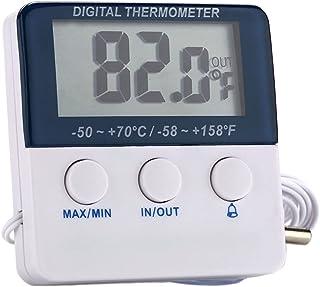 NC Termômetro digital digital com monitor de temperatura de função de alarme para casa de vegetação ao ar livre