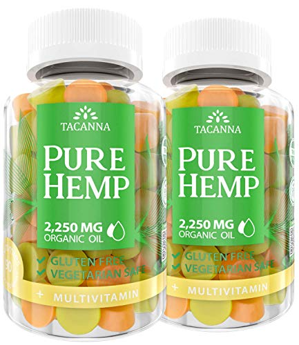 Tacanna Natural Hemp Gummies with Multivitamin Ultra Volume 4500Mg of Hemp Oil Premium Hemp Extract Relieve Stress Pain and Anxiety Natural Omega 3 6 9 for Immune Boost 180 Count