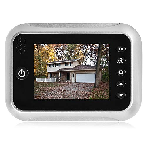 3.5' TFT LCD Screen Digital Doorbell Security Camera Door Peephole Viewer Door Camera Night Vision Wide Angle + Video Record+ Photo Shooting + Do Not Disturb(dnd) Function (With 1 free 32GB SD Card)