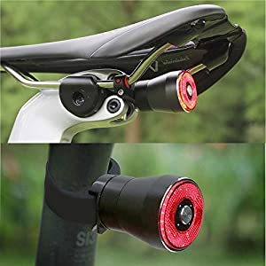 EBUYFIRE Luz Trasera de Bicicleta Inteligente Recargable USB, Super Brillante Rojo Luz LED Bici, Impermeable, Faro Trasero Bici para Máxima Seguridad de Ciclismo