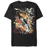 Star Wars Men's Force Hunter Graphic T-Shirt, Black, S