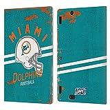 Head Case Designs Licenciado Oficialmente NFL Casco Distressed Look 100th Miami Dolphins Logo Art Ca...