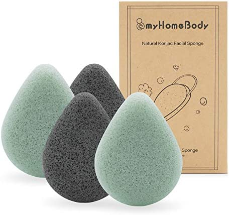 Natural Konjac Facial Sponges Teardrop Shape for Gentle Face Cleansing and Exfoliation with product image
