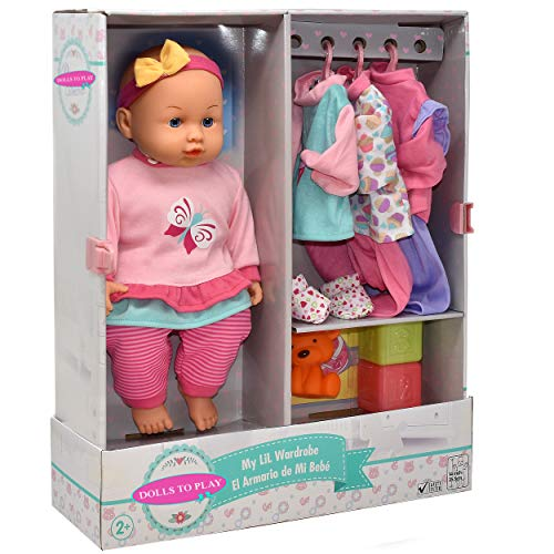 Soft Body Baby Doll, 14 Inch Doll with Clothes Set and Accessories