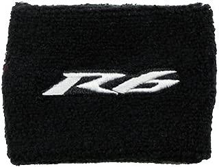 Yamaha R6 Black/Gray Brake Reservoir Cover by MotoSocks Fits YZF-R6, R6