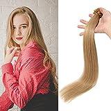 55cm - Extensiones Cabello Humano de Queratina 0.5g *100 Mechas U Tip Keratina Hair Extensions Remy Human Hair - 27# Rubio Oscuro