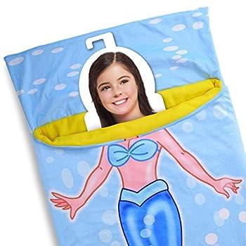 WALIKI Toys Mermaid Sleeping Bag for Girls Mermaid Slumber Bag Nap Mat