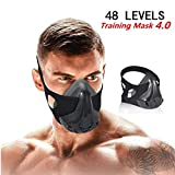 QISE Training Mask 4.0 with 8 Filters Workout Mask 48 Levels Breathing Resistance Levels - Fitness Mask Training in High Altitude Simulation Increase Cardio Endurance