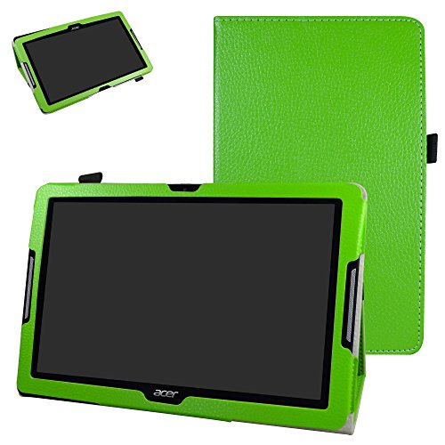 MAMA MOUTH Acer Iconia Tab 10 B3-A30 Funda, Slim PU Cuero con Soporte Funda Caso Case para 10.1' Acer Iconia Tab 10 B3-A30FHD Android Tablet,Verde