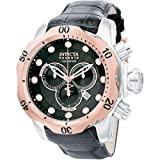 Invicta Men's 0360 Reserve Collection Venom Chronograph Black Leather Watch