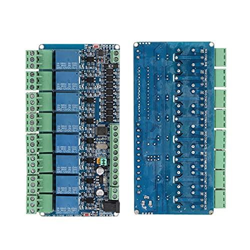 Agatige Módulo De Interruptor De Control De Salida De Relé De 8 Canales 12V, Módulo De Placa De Protección del Controlador De Carga