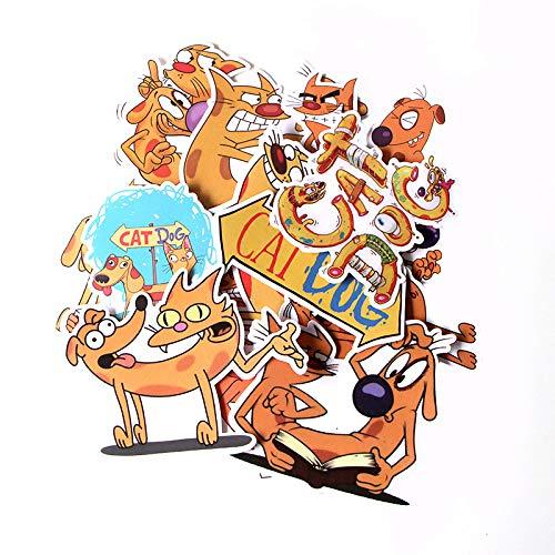 BAIMENG Lindo Perro Pegatina Caja de Viaje monopatín refrigerador Cuaderno Dibujos Animados Decorados PVC Pegatina de Dibujos Animados 14 Piezas