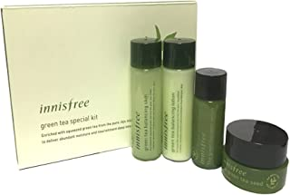 Innisfree Green Tea Balancing Special kit 4 Item(Skin 25ml + Lotion 25ml + Serum 15ml + Cream 10ml )