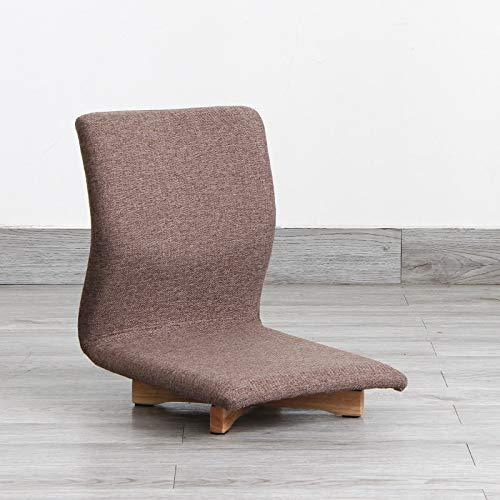 Haus Dekoration Mehrzweck 360-Grad-Drehbodenstuhl mit lumbalem Träger Japanischer Stil Möbel Economic Tatami Zaisu Beinless Stuhl Sitzen (Color : Brown Color)