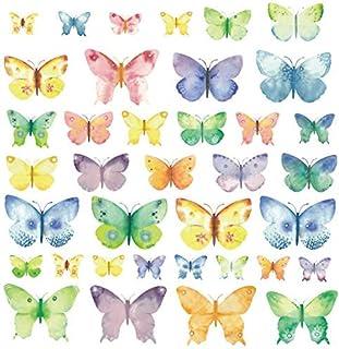 comprar comparacion Kath and Cath - Adhesivos de pared para niños, diseño de mariposas, color rosa