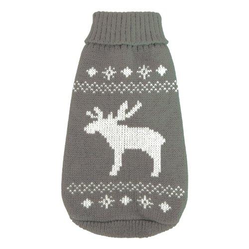 Wolters Strickpullover Elch Hunde Pullover Hundbekleidung grau/weiß XS - XL