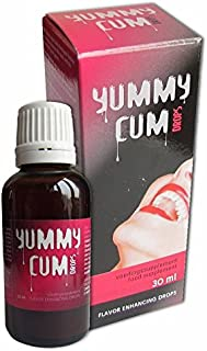 YUMMY CUM 30ML 7SERVINGS Sex Drops AND BLUE6K PILL Natural Libido Booster For Male / Female Enhancement IMPROVES QUANTITY AND TASTY PLUS LOVE POTION EXCLUSIVE PEN (1BOTTLE1PILL)