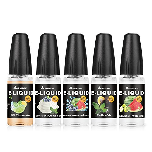 Salcar 10er Pack (10 x 10 ml) Premium Mix Fruchtgeschmack E-Liquids für E Zigaretten/E Shisha