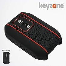 Keyzone® Keycare® Silicone Key Cover for Suzuki DZire, Swift, Ertiga 2b Smart Key (Black)