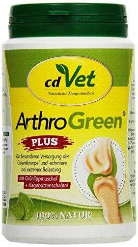 cdVet Naturprodukte ArthroGreen plus 150 g  - unterstützt in akuten Phasen optimal Bewegungsapparate und die Gelenke - ernährungsbedingte Unterstützung -  für die Festigkeit von Knochen und Knorpel -