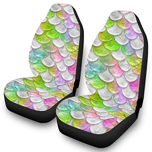 Fundas de asiento de coche universales para asientos delanteros de coche, estampado 3D, fundas para asientos de coche, fundas para asientos de coche