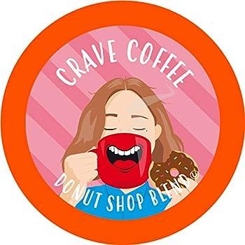 Crave Beverage Donut Shop - Medium Roast Coffee Pods for Keurig K Cup Brewers 100 Count