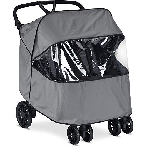 Britax B-Lively Double Stroller Wind and Rain Stroller | Easy Install + Air Ventilation + Storage Pouch Included