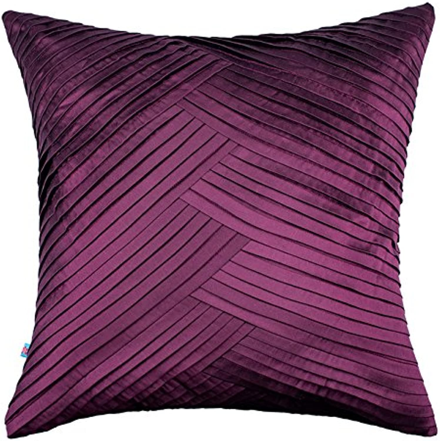 The Pink Champa Modern Soft Fall Textured Decorative Accent Throw Pillow Cover Home, 20x20, Purple Burgundy Plum