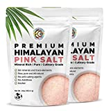Earth Circle Organics Premium Himalayan Pink Fine Grain Salt - Pure Culinary Grade, Raw, All Natural Himalayan Salt - Certified Kosher, Nutrient and Mineral Dense, No Anti-Caking Agents - 2 Pounds