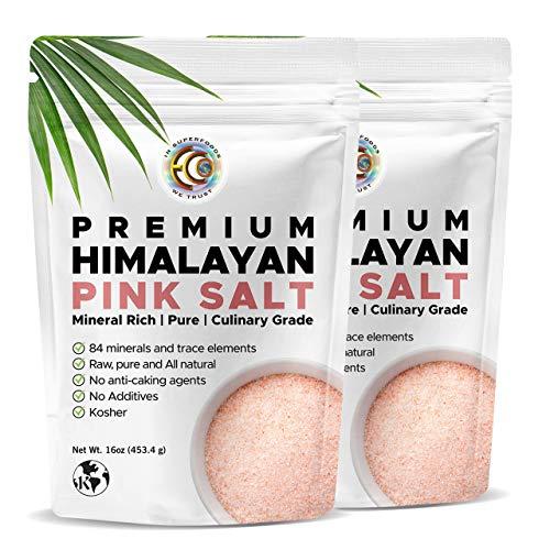 Earth Circle Organics Premium Himalayan Pink Fine Grain Salt, No Anti-Caking Agents, Pure Culinary Grade - Kosher, Nutrient and Mineral Dense - 2lbs