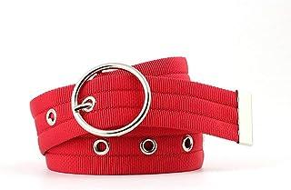 Yinew Hollow Round Buckle Corns Cintura Sport Outdoor Cintura Cintura Personalizzato Jeans Accessori per Donne Uomini, per...