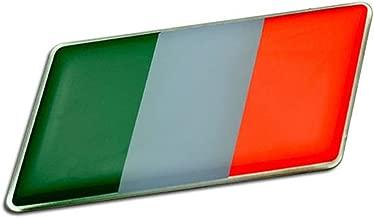 ITALIAN ITALY FLAG Emblem Badge Nameplate Decal Rare for Lamborghini 350GT 400GT 2+2 Miura Espada Islero Jarama Urraco Countach LP400 S LP500 5000QV 25th Anniversary Silhouette Jalpa LM002 Diablo Murcielago Gallardo Reventon Aventador Sesto Elemento Veneno Coupe Roadster V8 V12 SV
