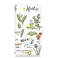 HTC J butterfly (HTV31) 用 PU手帳型 カードタイプ スマホケース [オーガニック・ハーブ Herb] イラスト ベジタブル エイチティーシー ジェー バタフライ au 楽天モバイル ワイモバイル スマホカバー 携帯ケース スタンド [FFANY] garden 00l_149@02c