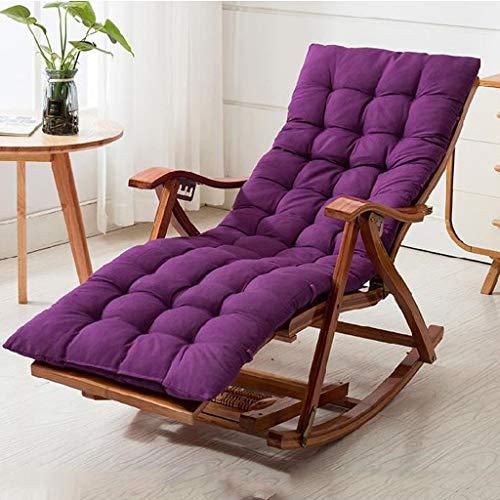 silla De Madera De Acacia Plegable Almuerzo Pausa De Gravedad Cero Relaxe Reclinable Almohada De Cuello De Bambú Acolchado Suave 99 X 23 X 64 Cm para Camping Y Jardín De Ocio, Cómodo