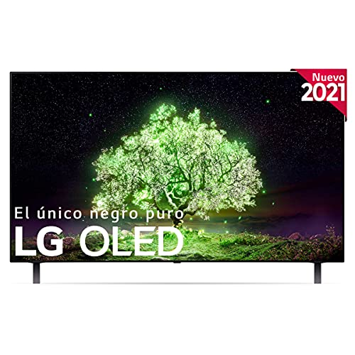 LG OLED 2021 - OLED48A1 - ALEXA - Smart TV 4K UHD OLED 120 cm (48') con Inteligencia Artificial, Procesador Inteligente α7 Gen4, 100% HDR, Dolby ATMOS, HDMI 2.0, USB 2.0, Bluetooth 5.0, WiFi