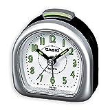 Casio TQ148/8 Travel Alarm Clock-Silver/White, One Size