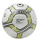 UHLSH|#Uhlsport Unisex Adult Infinity Revolution 3.0 Ball Football Ball - White/Fluo Yellow/Marine, 5