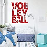 Beach Volleyball Wall Decal - Silhouette - Vinyl Decor for Girls or Tween's Bedroom or Playroom - Sports Decorations