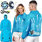 Air Conditioned Clothes Cooling Vest 3-Speed Adjustable Fan Ac Jacket Cooling Sun Protection Cool vest for Summer (Small)