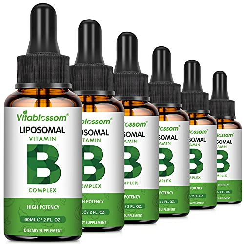 Liposomal Vitamin B Complex - Vitamins B1, B2, B3, B5, B6, B12, Biotin and Folate - Higher Absorption - for Your Immune System