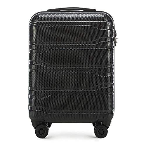 WITTCHEN Koffer – Handgepäck | hartschalen, Material: polycarbonat | hochwertiger und Stabiler | Schwarz | 38x20x53 cm