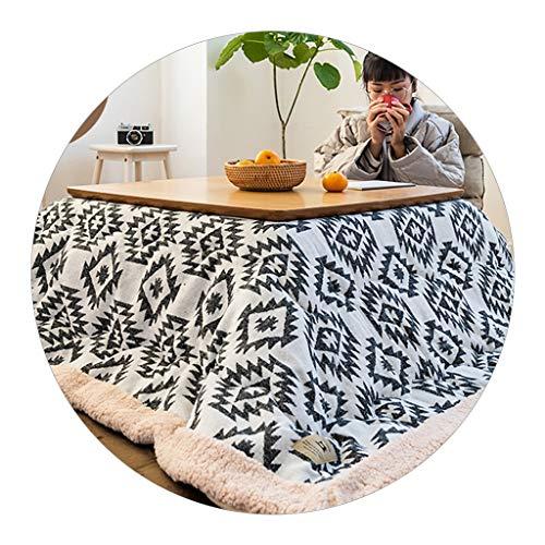 Heiztisch Kotatsu Japanischer Kotatsu-Tisch Tatami-Kang-Tisch Niedriger Tischheiztisch Winterheizung Kombinierte Nutzung (Color : Weiß, Size : 75 * 75 * 37cm)