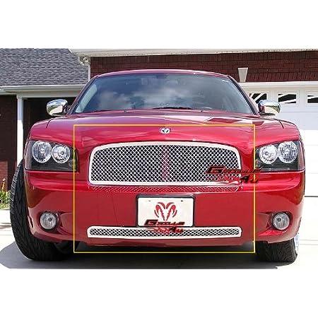 APS Compatible with 2007-2010 Dodge Avenger SXT Black Billet Grille Grill Combo Insert D87712H