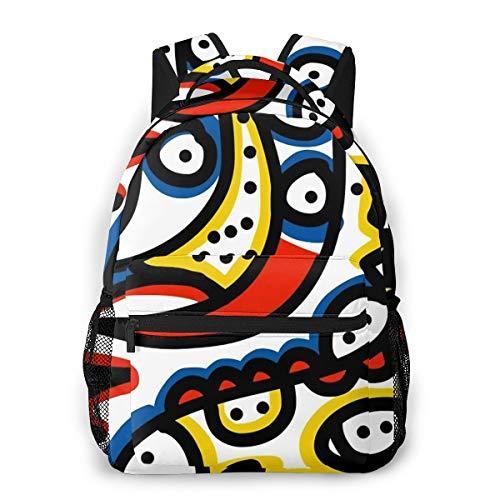 Fashion Backpack for Teen Girls Young Graffiti Casual Shoulder Bag Student Daypack Travel Laptop Bag for Men Women
