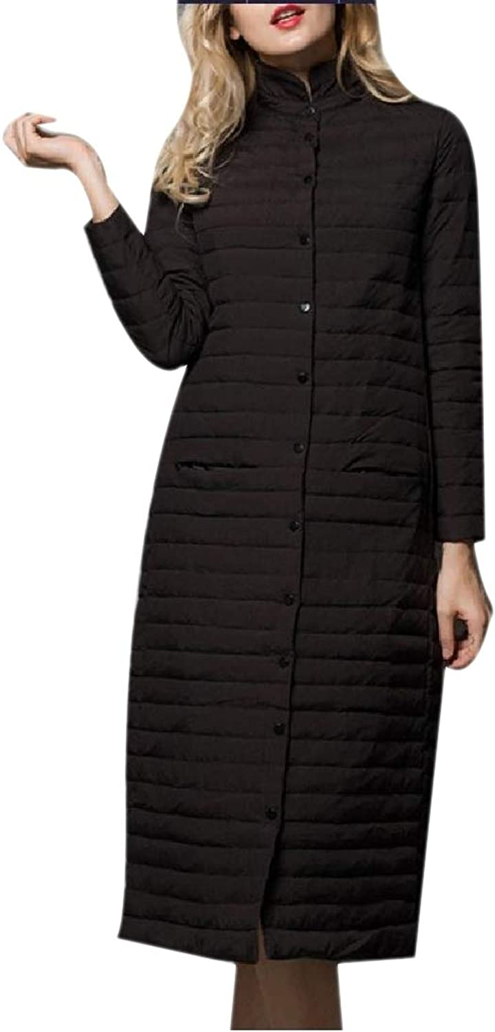 Yingshif Women Duck Packable Parka Quilted Thicken Comfort Overcoat