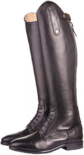 HKM Valencia Bottes d'équitation Courte Standard Noir gris 44