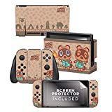 Controller Gear Aunthentic & Officially Licensed Animal Crossing: New Horizon - 'Timmy & Tommy' Nintendo Switch Skin Bundle