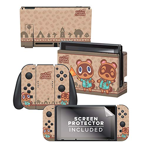 """Controller Gear Aunthentic & Officially Licensed Animal Crossing: New Horizon - """"Timmy & Tommy"""" Nintendo Switch Skin Bundle"""